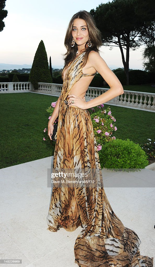 Model Ana Beatriz Barros attends the 2012 amfAR's Cinema Against AIDS during the 65th Annual Cannes Film Festival at Hotel Du Cap on May 24, 2012 in Cap D'Antibes, France.