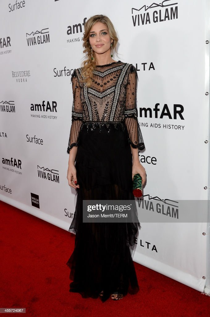Model Ana Beatriz Barros attends the 2013 amfAR Inspiration Gala Los Angeles at Milk Studios on December 12, 2013 in Los Angeles, California.
