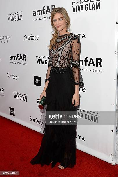 Model Ana Beatriz Barros attends the 2013 amfAR Inspiration Gala Los Angeles at Milk Studios on December 12 2013 in Los Angeles California