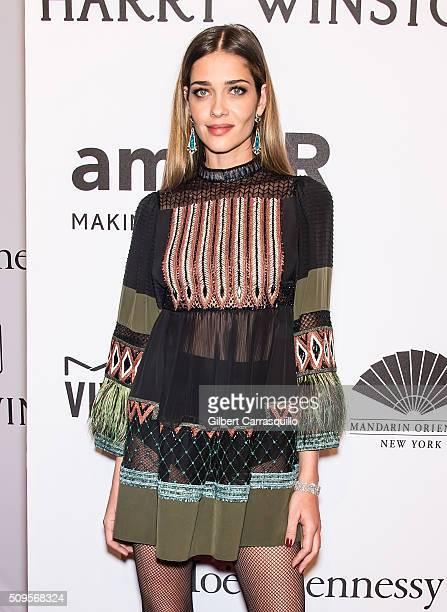 Model Ana Beatriz Barros attends the 2016 amfAR New York Gala at Cipriani Wall Street on February 10 2016 in New York City