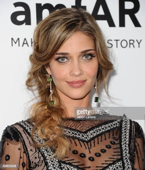 Model Ana Beatriz Barros attends the amfAR Inspiration Gala at Milk Studios on December 12 2013 in Hollywood California