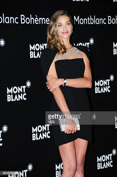 Model Ana Beatriz Barros attends the Montblanc Boheme Collection launch event at The Peninsula Shanghai on August 28 2014 in Shanghai China