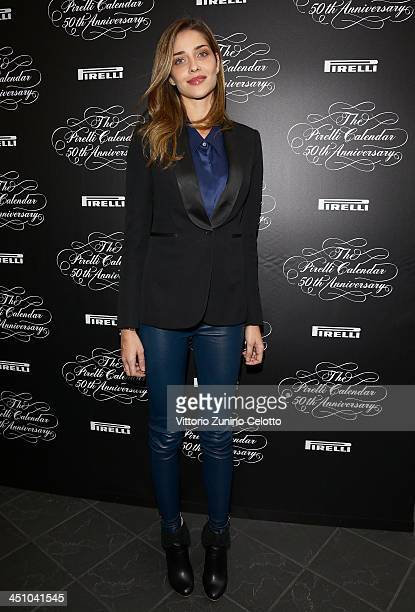 Model Ana Beatriz Barros attends the Pirelli Calendar 50th Anniversary press conference on November 21 2013 in Milan Italy