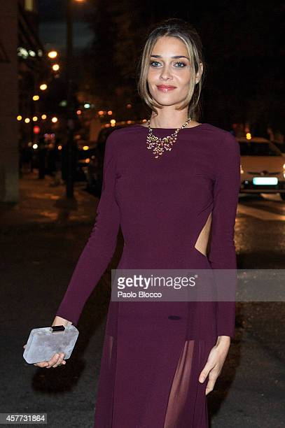 Model Ana Beatriz Barros is seen arriving to 'Elle Style Awards 2014' at Italian embassy on October 23 2014 in Madrid Spain