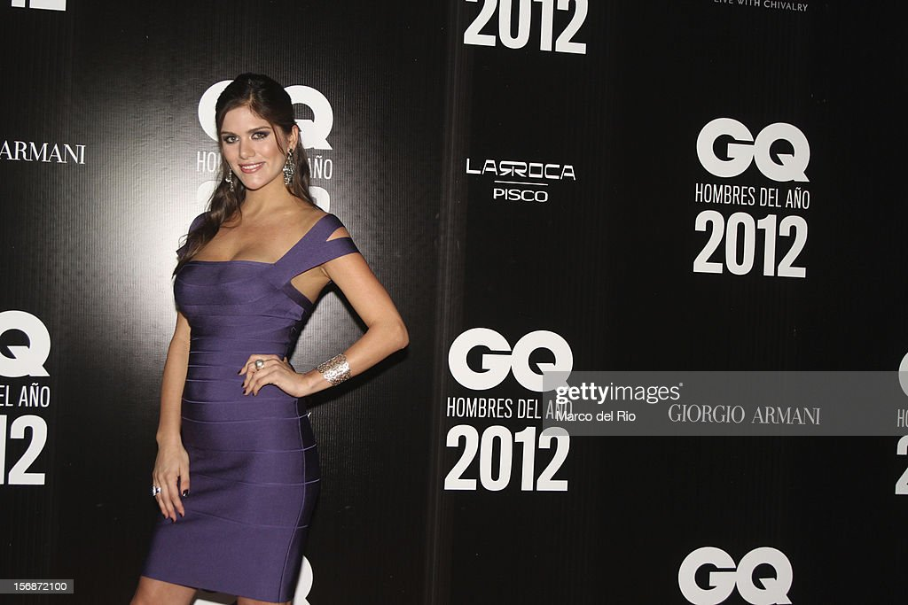 Model Anahi Gonzales Daly poses during the awards ceremony GQ Men of the Year 2012 at La Huaca Pucllana on November 23, 2012 in Lima, Peru.