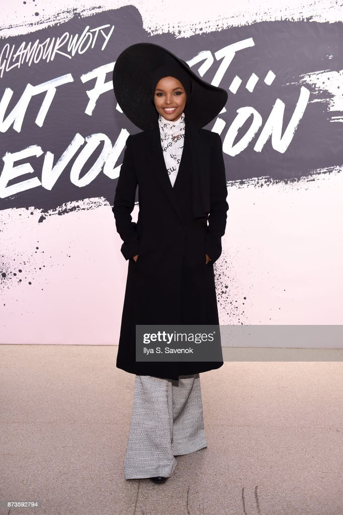 Model and Activist Halima Aden poses during Glamour Celebrates 2017 Women Of The Year Live Summit at Brooklyn Museum on November 13, 2017 in New York City.