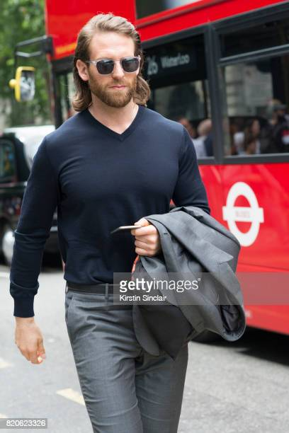 Model and Actor Craig McGinlay on day 3 of London Collections Men on June 12 2017 in Paris France