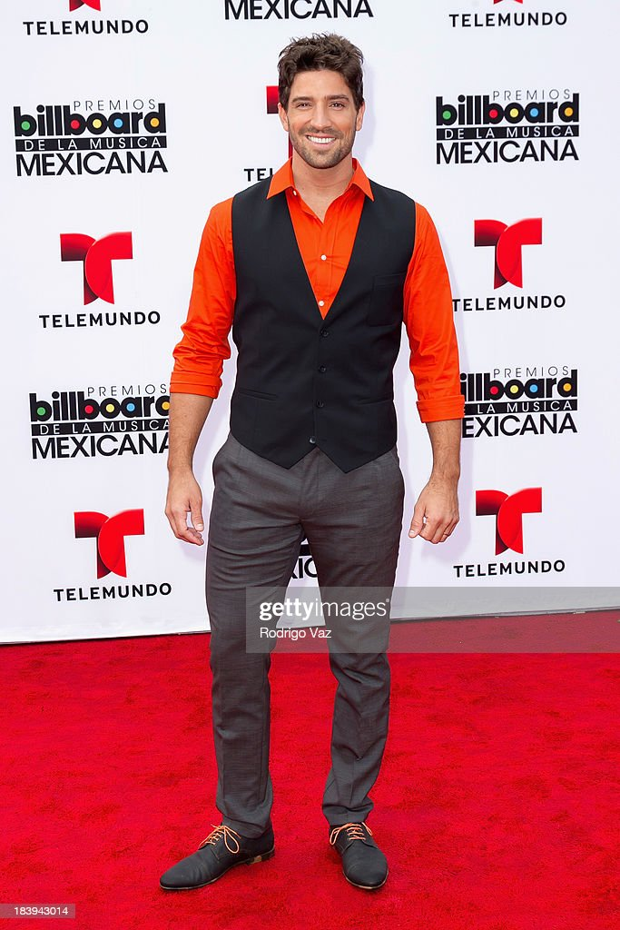 Model and actor David Chocarro attends the 2013 Billboard Mexican Music Awards arrivals at Dolby Theatre on October 9, 2013 in Hollywood, California.