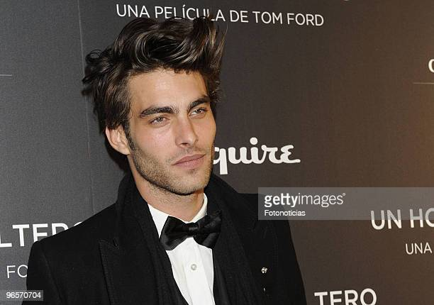Model and actor Jon Kortajarena attends the premiere of 'Un Hombre Soltero' at Capitol cinema on February 10 2010 in Madrid Spain