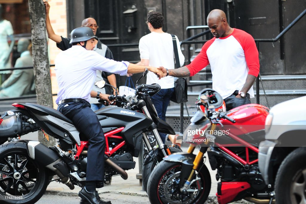 Model and Actor <a gi-track='captionPersonalityLinkClicked' href=/galleries/search?phrase=Tyson+Beckford&family=editorial&specificpeople=210873 ng-click='$event.stopPropagation()'>Tyson Beckford</a> is seen in Soho on July 24, 2013 in New York City.