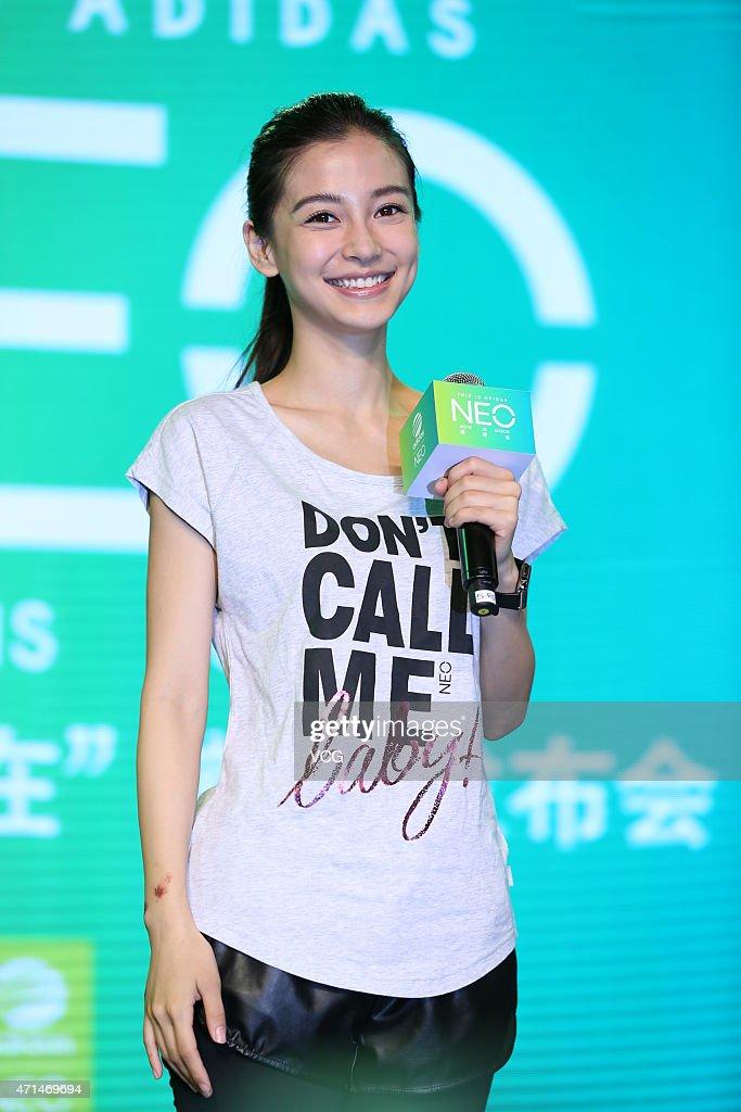 Angelababy Promotes Adidas In Shanghai