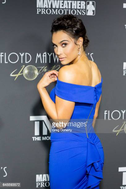 Model and Actress Brittany Lucio attends Floyd Mayweather's 40th Birthday Celebration on February 25 2017 in Los Angeles California