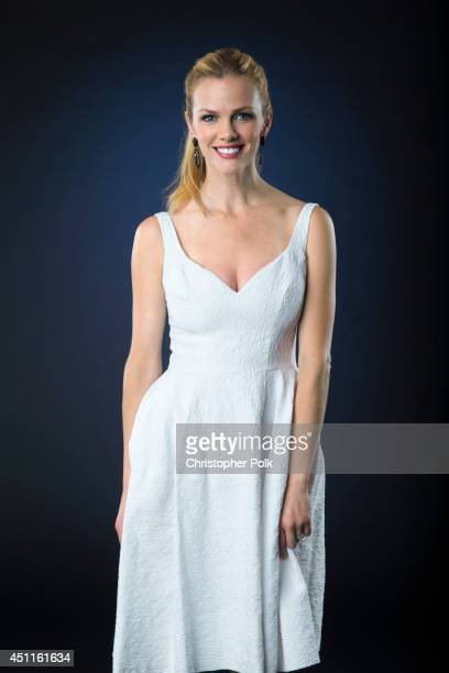 Model and actress Brooklyn Decker is photographed at the CMT Music Awards Wonderwall portrait studio on June 4 2014 in Nashville Tennessee
