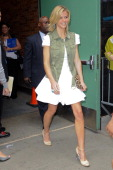 Model and actress Brooklyn Decker leaves the 'Good Morning America' taping at the ABC Times Square Studios on June 14 2011 in New York City