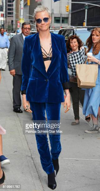 Model and actress Cara Delevingne is seen on July 20 2017 in New York City
