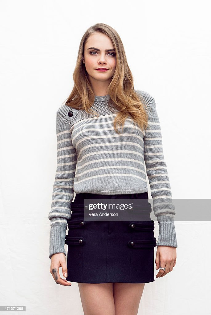 Model and actress <a gi-track='captionPersonalityLinkClicked' href=/galleries/search?phrase=Cara+Delevingne&family=editorial&specificpeople=5488432 ng-click='$event.stopPropagation()'>Cara Delevingne</a> poses for a portrait at the 'Paper Towns' Press Conference at the The London Hotel on April 24, 2015 in West Hollywood, California.