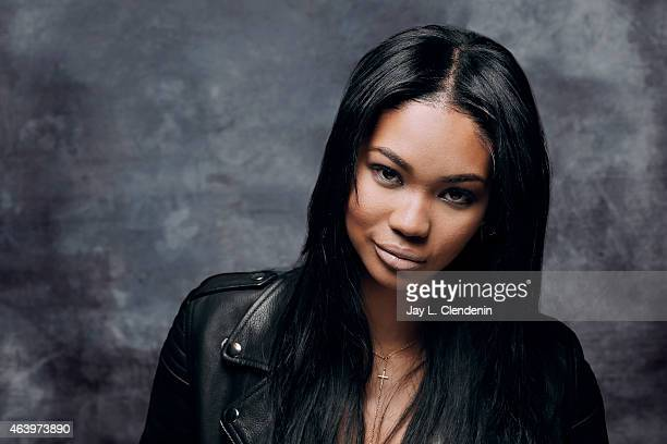 Model and actress Chanel Iman is photographed for Los Angeles Times at the 2015 Sundance Film Festival on January 24 2015 in Park City Utah PUBLISHED...