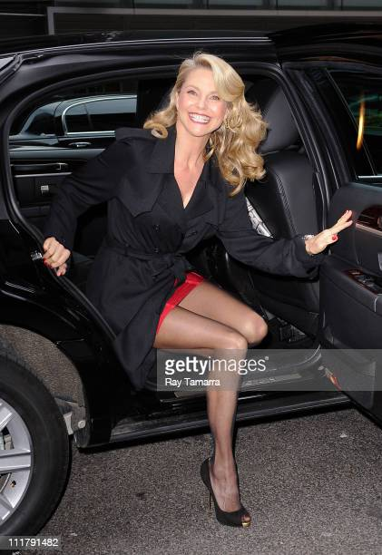 Model and actress Christie Brinkley enters the 'Good Morning America' taping at the ABC Times Square Studios on April 6 2011 in New York City
