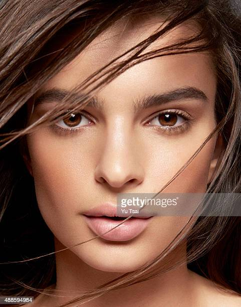 Model and actress Emily Ratajkowski is photographed for a beauty and skin editorial for on March 13 2015 in Los Angeles California
