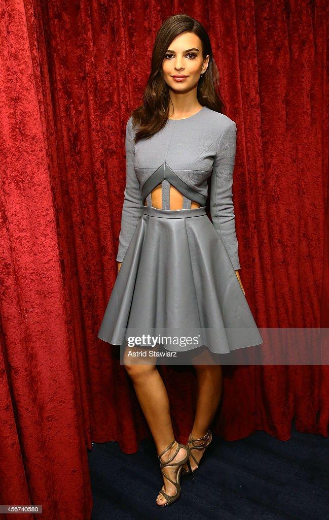 Model and actress Emily Ratajkowski visits the SiriusXM Studios on October 6, 2014 in New York City.