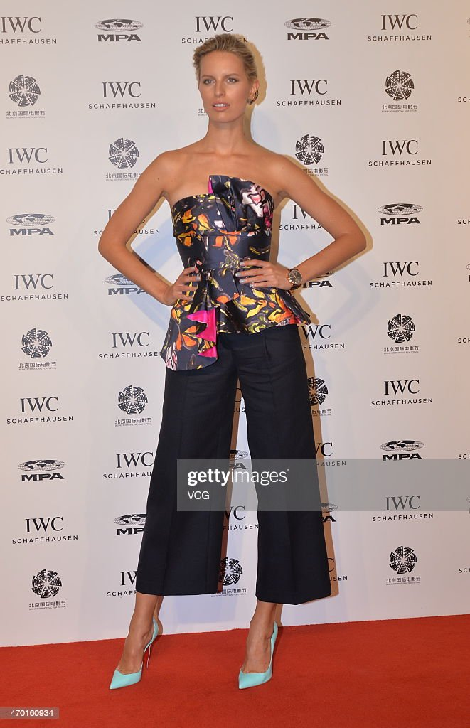Model and actress Karolina Kurkova of the Czech Republic attends IWC Night as part of 2015 Beijing International Film Festival on April 17 2015 in...