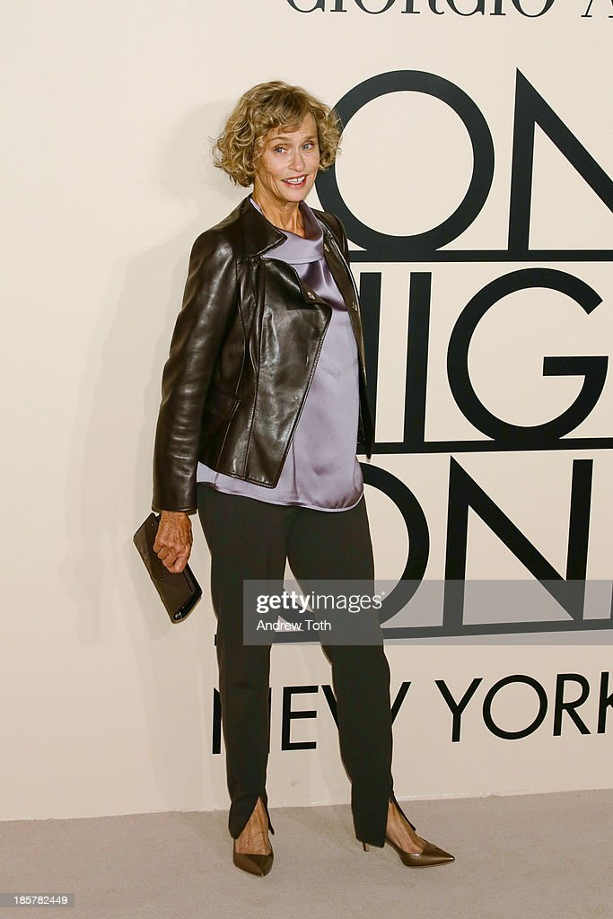 Model and actress Lauren Hutton attends Armani - One Night Only New York at SuperPier on October 24, 2013 in New York City.