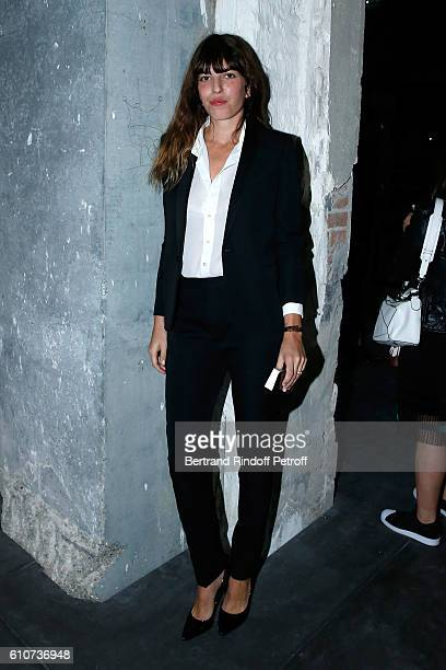 Model and actress Lou Doillon attends the Saint Laurent show as part of the Paris Fashion Week Womenswear Spring/Summer 2017 on September 27 2016 in...