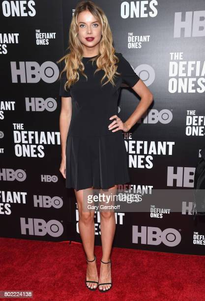 Model and actress Louisa Warwick attends 'The Defiant Ones' New York premiere at Time Warner Center on June 27 2017 in New York City