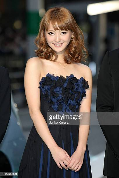 Model and Actress Nozomi Sasaki walks on the green carpet during the 22nd Tokyo International Film Festival Opening Ceremony at Roppongi Hills on...