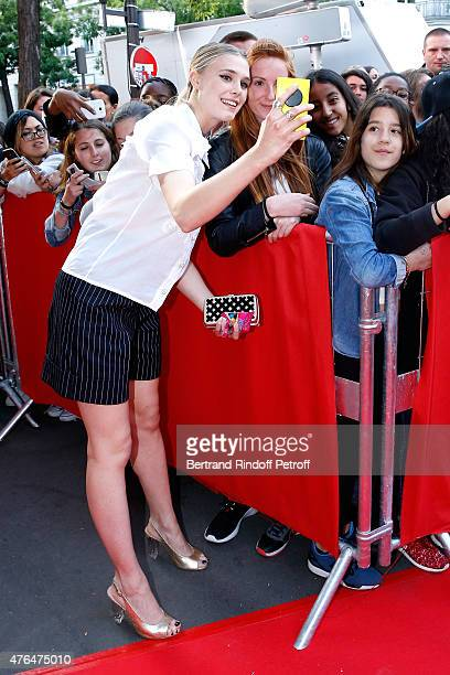 Model and actress of the movie Gaia Weiss attends 'Les Profs 2' Paris Premiere at Le Grand Rex on June 9 2015 in Paris France