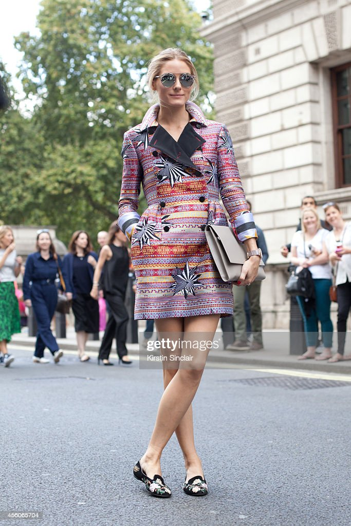 Model and Actress Olivia Palermo is wearing a Matthew Williamson dress Smythson clutch bag Dior sunglasses and Alexander McQueen shoes on day 3 of...