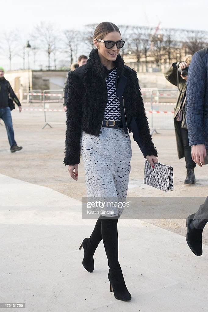 Model and Actress Olivia Palermo wears Nina Ricci on day 3 of Paris Collections: Women on February 27, 2014 in Paris, France.
