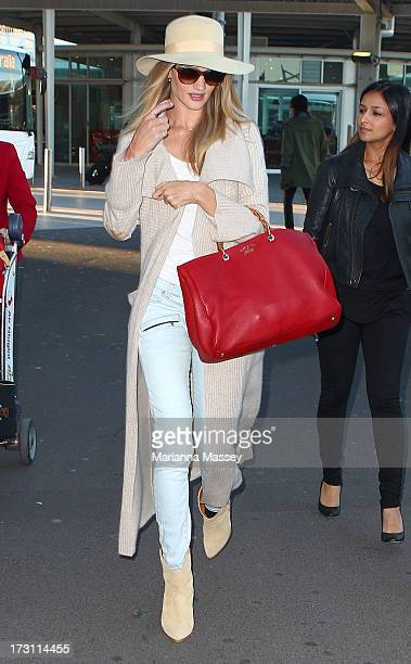 Model and actress Rosie HuntingtonWhiteley arrives in Australia for a Hayman Island photo shoot as new ambassador for Australian beauty brand ModelCo...