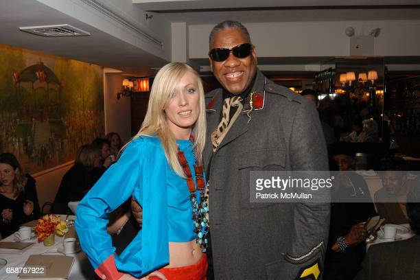 model and Andre Leon Tally attend Andre Leon Talley and Robert Burke host at La Caravelle for Loulou de la Falaise Collection on February 12 2004
