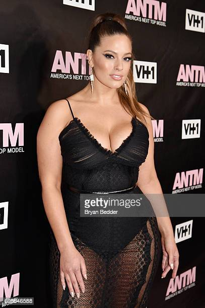 Model and ANTM Judge Ashley Graham attends the VH1 America's Next Top Model premiere party at Vandal on December 8 2016 in New York City