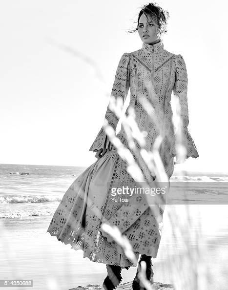 Model and author Chrissy Teigen is photographed for Vogue Thailand on August 15 2015 in Los Angeles California ON DOMESTIC EMBARGO UNTIL JULY 1 2016...