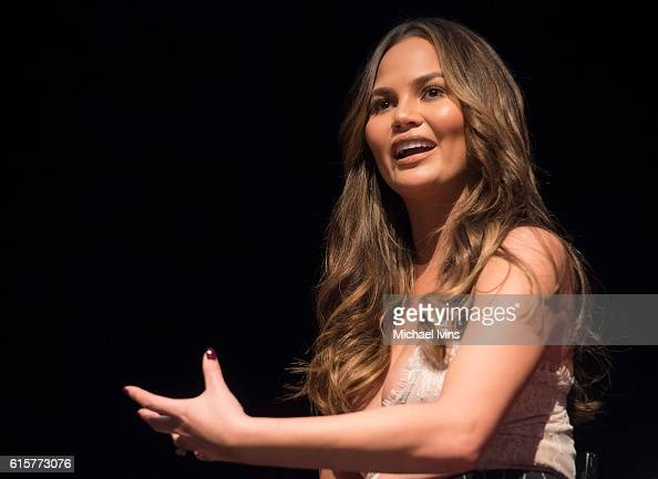 Model and Author Chrissy Teigen speaks during the 2016 Forbes Under 30 Summit at Northeastern University on October 18 2016 in Boston Massachusetts