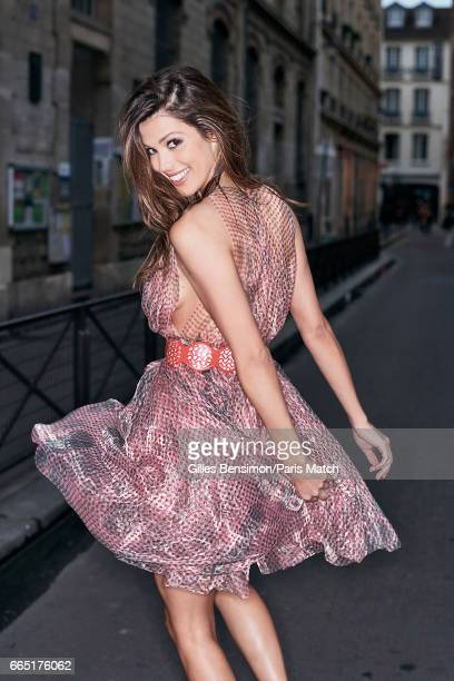 Model and beauty queen who was crowned Miss Universe 2016 Iris Mittenaere is photographed for Paris Match wearing Azzedine Alaiaon designs on March...