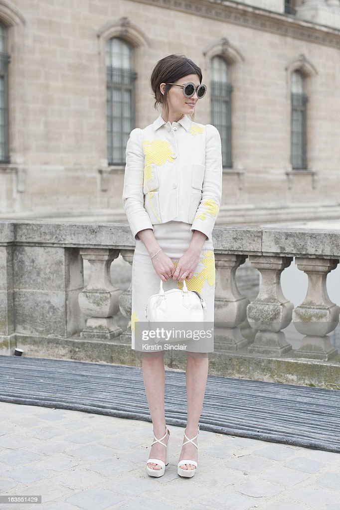 Model and blogger Hanneli Mustaparta wears all Louis Vuitton and Calvin Klein shoes on day 7 of Paris Womens Fashion Week Autumn/Winter 2013 on March 06, 2013 in Paris, France.
