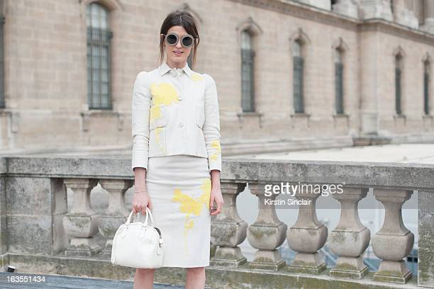 Model and blogger Hanneli Mustaparta wears all Louis Vuitton on day 7 of Paris Womens Fashion Week Autumn/Winter 2013 on March 06 2013 in Paris France