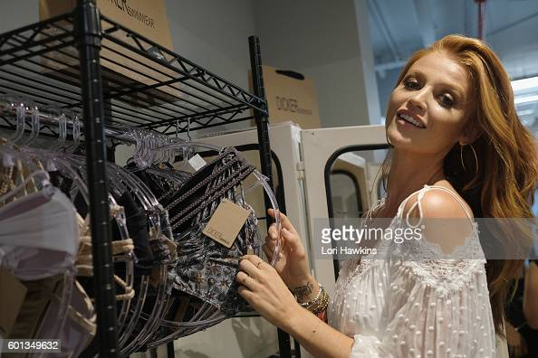 Model and creator Cintia Dicker attends the Dicker Swimwear popup shop launch at the Maria Bonita Salon on September 9 2016 in New York City
