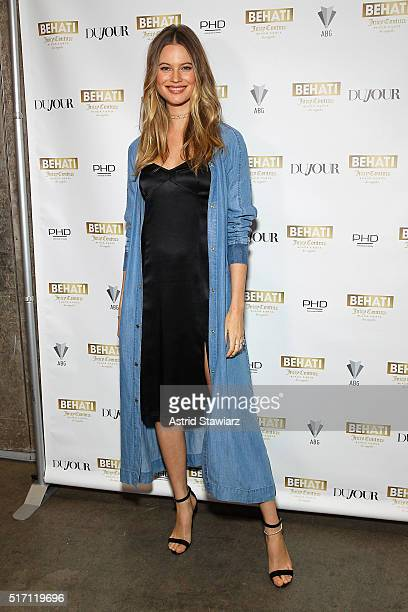 Model and designer Behati Prinsloo attends as DuJour's Jason Binn hosts the launch of Behati X Juicy Couture at PHD at Dream Downtown on March 23...