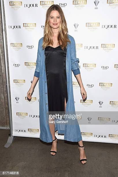 Model and designer Behati Prinsloo attends Behati Juicy Couture Black Label Launch at PHD Rooftop Lounge at Dream Downtown on March 23 2016 in New...