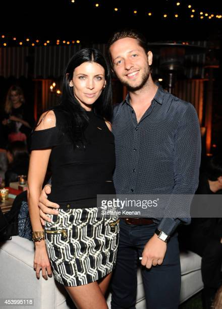 Model and designer Liberty Ross and fashion writer Derek Blasberg attend GENETIC x Liberty Ross Launch on August 22 2014 in Beverly Hills California