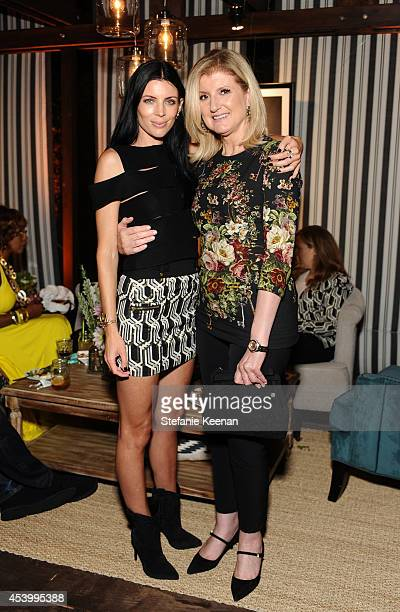 Model and designer Liberty Ross and journalist Arianna Huffington attend GENETIC x Liberty Ross Launch on August 22 2014 in Beverly Hills California