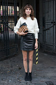 Model and DJ Alexa Chung on day 4 of London Fashion Week Spring/Summer 2013 at Somerset House on September 16 2013 in London England