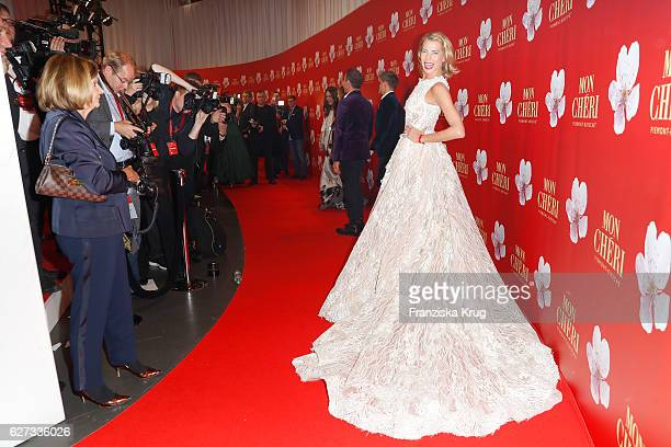 Model and DJ Giulia Siegel attends the Mon Cheri Barbara Tag at Postpalast on December 2 2016 in Munich Germany