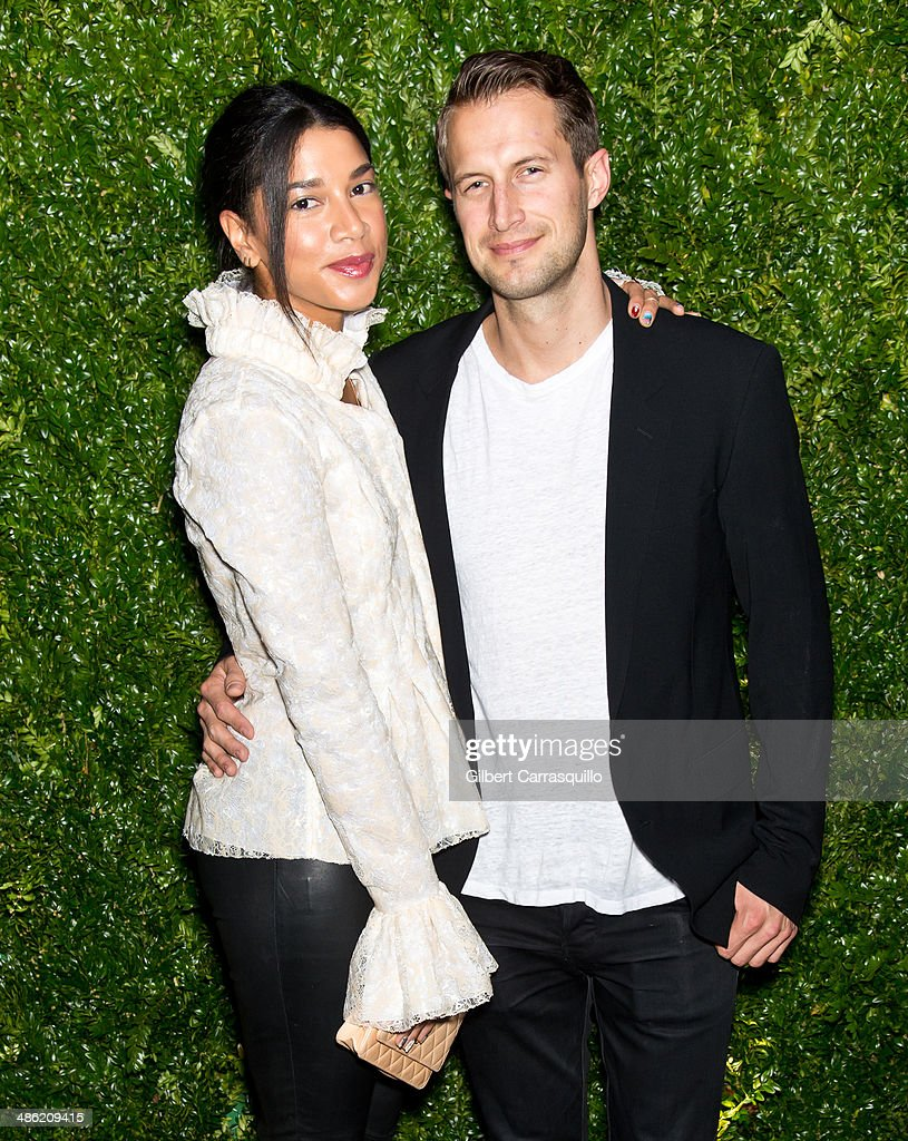 Model and DJ Hannah Bronfman and DJ Brendan Fallis attend the 9th annual Chanel Artists Dinner during the 2014 Tribeca Film Festival at Balthazar on April 22, 2014 in New York, New York.