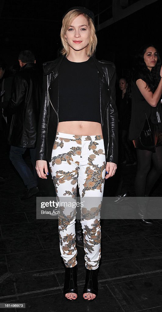 Model and DJ Leigh Lezark attends the Theyskens' Theory fall 2013 fashion show during Mercedes-Benz Fashion Week at Skylight Studios at Moynihan Station on February 11, 2013 in New York City.