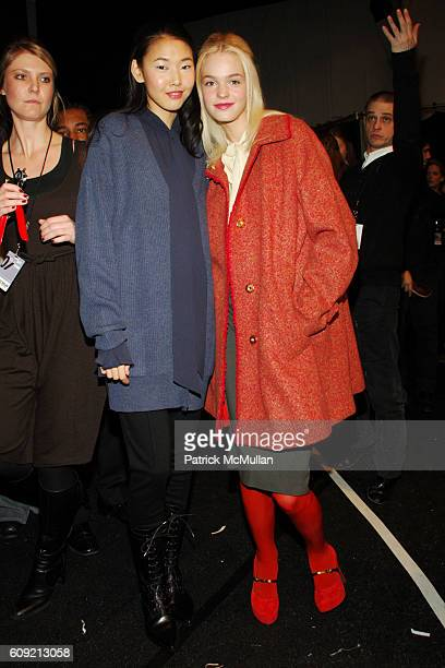 Model and Erin Heatherton attend CHARLES NOLAN Fall 2007 Collection at The Promenade on February 9 2007 in New York City